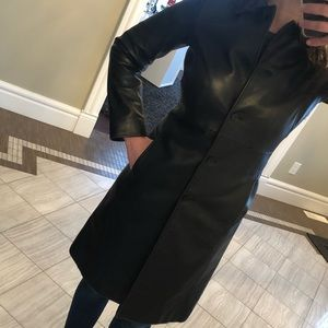 Kenneth Cole Reaction Long Leather Coat (Small)